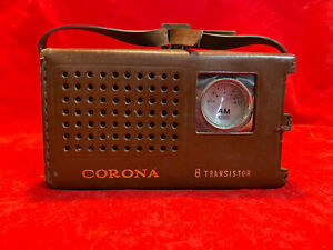 Corona (Crown) 8 Transistor AM portable radio, model TR-885, Crown Electric