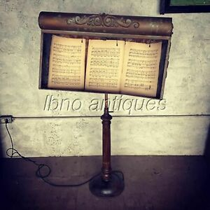 STUNNING 19th C. AMERICAN ZINC CONDUCTOR MUSIC STAND / HOSTESS STAND. ONE OF ,