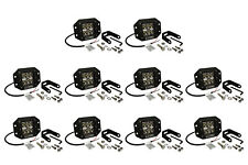 "10x 5"" 24 W Watt LED Flush Mount SPOT Light CREE Off Road Driving Fog Lamp Pod"