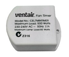 Exhaust Fan 7 Minutes Delay Timer Ventair Lighting