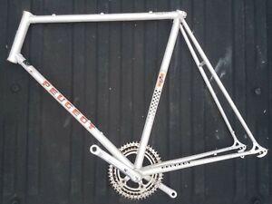 Peugeot Super Competition Reynolds 531 59cm Road Bike Frame, Nervar cranks