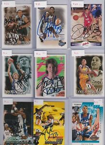 Lot of (37) WNBA/NCAA AUTOGRAPHED BASKETBALL CARDS! Impressive Investment List!