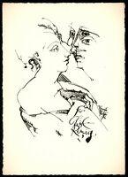 Heinrich Richter: Für Christa Reinig. [19]76. Signierte Original-Federzeichnung.