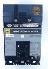 SQUARE D CIRCUIT BRAKER, FA36015, I-LINE MOLDED CASE, 15 AMP, 600 VAC, 3 POLE