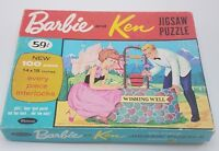 1963 Whitman Barbie and Ken Puzzle Whitman # 4604 Complete in Box VG Condition