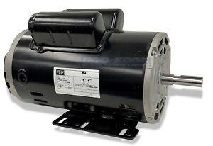 "5HP SPL 15 AMP 1 PHASE 3450 RPM ELECTRIC AIR COMPRESSOR MOTOR 56 FR, 5/8"" SHAFT"