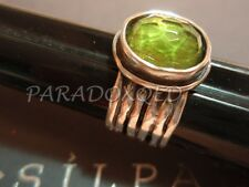 SILPADA RETIRED Oxidized Sterling Silver 925 Green Glass Ring Size 5 1/2 R1463