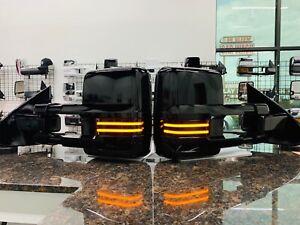 2014-18 Silverado / Sierra painted Gloss black Tow mirrors / Fits diesel