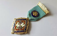 ANTQUE ROYAL MASONIC INSTITUTION FOR BOYS 1932 STERLING SILVER & ENAMEL MEDAL