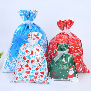 2Pcs Santa Claus Candy Bag Christmas Gift Party Wedding Bags Pouches Home AU