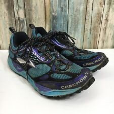 Brooks Cascadia 6 Women's 10 B Blue Black Lace Up Running Shoes