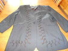 Women's sz 22W Executive Collection brand Black Dressy Blazer w rhinestones EUC