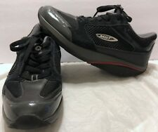 MBT Moja Black Lace Up Shoes Size 7 Curved Sole Rocker Athletic Walking 400214