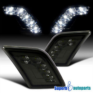 For 2008-2011 Mercedes Benz W204 C-Class SMD LED Bumper Signal Lights Smoke C63