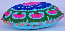 Indian Cotton Suzani Cushion Cover Embroidered Pillow Case Ethnic Indian Decor