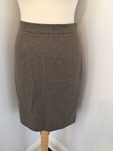 PROENZA SCHOULER Runway Italy Wool Cashmere Pencil Skirt Light Brown Sz 6 EUC