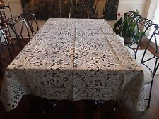Vintage  Hand Embroidered  Italian Tablecloth + 12 Napkins  NEVER USED