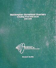 Intercept Shield USA Coin Album 50 State WA Quarters 2004-2008 High Quality Free