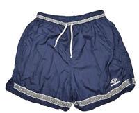 Vintage Umbro Shorts Mens L Nylon Navy Design Soccer Athletic Running 90s retro