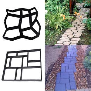 Plastic Garden Lawn Floor Paving Mold DIY Patio Step Stone Path Maker Mould