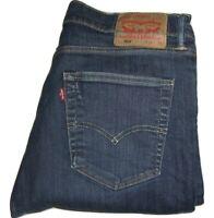 Mens LEVI'S 508 Dark Blue (0268) Regular Tapered Stretch Denim Jeans W34 L32