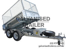 8x5 hydraulic Tipper Trailer Gal With 3.5 Tonne GVM, 410mm Sides & 800mm Cage