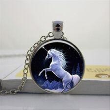 Collana con pendente unicorno Luna catena gioielli vetro regalo idea da Donna Bambine