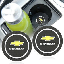 2pcs Silicone Car Logo Cup Bottle Holder Mat Pad Coaster Anti-Slip for Chevrolet