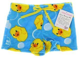 Fuzzy Pajama Shorts Rubber Ducky Emme Jordan Junior Sleepwear Loungewear