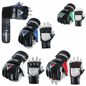 Aamron ® Leather Punching Bag Mitts Boxing Muay Thai Training Speed Ball MGR-A01