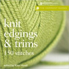 Knit Edgings & Trims Harmony Guides Knitting Stitch Book Patterns Afghans Border