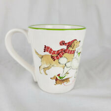 PIER ONE IMPORTS Park Avenue Puppies Christmas Dog Coffee Tea Mug New York