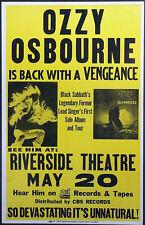Framed Vintage Music Concert Poster – Ozzy Osbourne (Replica Picture Artwork)