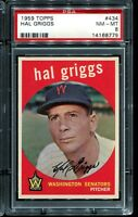 1959 Topps Baseball #434  HAL GRIGGS Washington Senators PSA 8 NM-MT