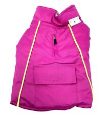 New listing Pet Spirit Dog Jacket Xs Pocket Pink Yellow Piping Fleece Lined New