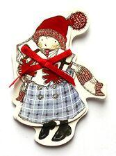 4 Self Adhesive Stick On 3D Christmas Girl & Presents Embellishments Card Craft