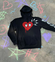 "Bape Bathing Ape Baby Milo Comme des Garcons ""PLAY"" Heart Style Hoodie Black"