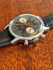 Ultra Rare Retro Vintage Monte Ancre 1960/70s reverse Swiss Valjoux 7733 Watch