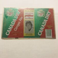 NEW 1979 LARRY BOWA #10 Philadelphia Phillies Canada Dry Ginger Ale Can Flat