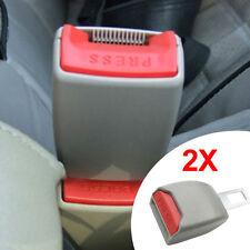 2PCS GRAY AUTO CAR SAFETY SEAT BELT BUCKLE CLIP ADJUSTABLE EXTENSION EXTENDER