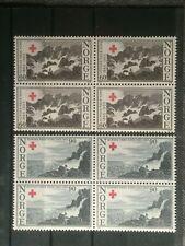 SCOTT #473-474 1965 NORWAY BLOCK OF 4 STAMPS MNH