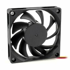 5x(70x70mm 12v 3-pin PC Computer Case CPU DC Brushless Cooler Fan Black BR C4h6