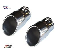 2X EXHAUST PIPE TIP TRIM MUFFLER S/S SPECIALLY FOR AUDI Q7 3.6TFSI 3.0TDI 07-12