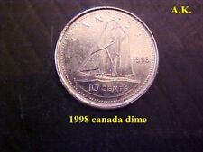1998  Canadian  dime Coin