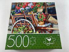 "Cardinal Peddlin' Posies Flower Cart Jigsaw Puzzle 500 Piece 18"" x 24"" SEALED"