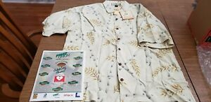Mike Ditka HOF Celebrity Golf Classic embroidered Tommy Bahama silk shirt size L