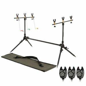 Fishing Rods Adjustable Retractable Carp Pod Stand Holder Stand 3 Alarms Rivers
