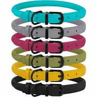 Rolled Leather Dog Collar Rope Round Collars For Dogs Puppy S M L XL Heavy Duty