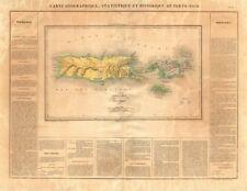 """""""Porto-Rico et des Discipline-Vierges 's. Puerto Rico & Islas Vírgenes. Buchon 1825 Mapa"""