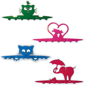Galleksa Children's Wall-Mounted Coat Hooks Hanger Rack Kids Room